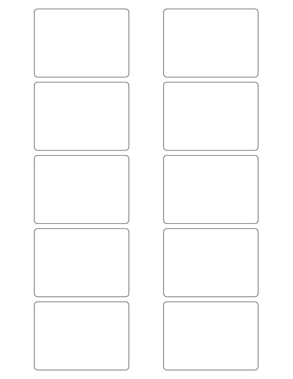2 3/4 x 2 Rectangle White Label Sheet