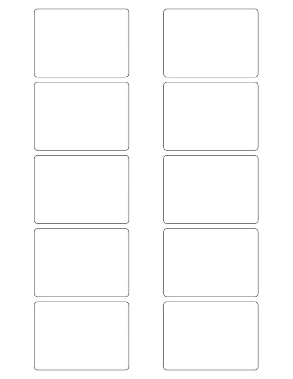 2 3/4 x 2 Rectangle White Printed Label Sheet