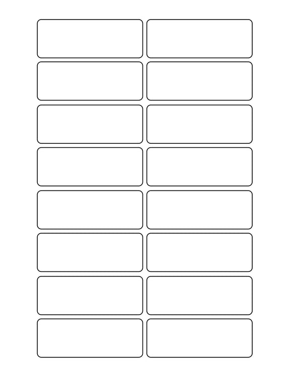 3 1/16 x 1 1/8 Rectangle Removable White Printed Label Sheet
