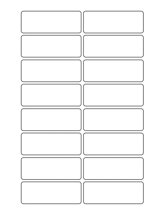 3 1/16 x 1 1/8 Rectangle White Label Sheet