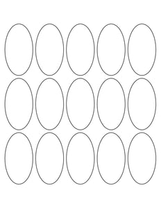 1 1/2 x 2 3/4 Oval Khaki Tan Label Sheet