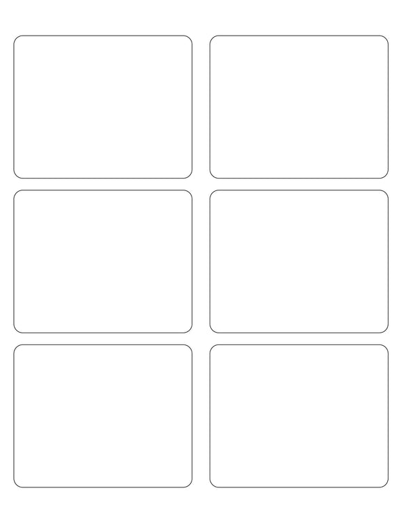 3 3/4 x 3 Rectangle White High Gloss Printed Label Sheet