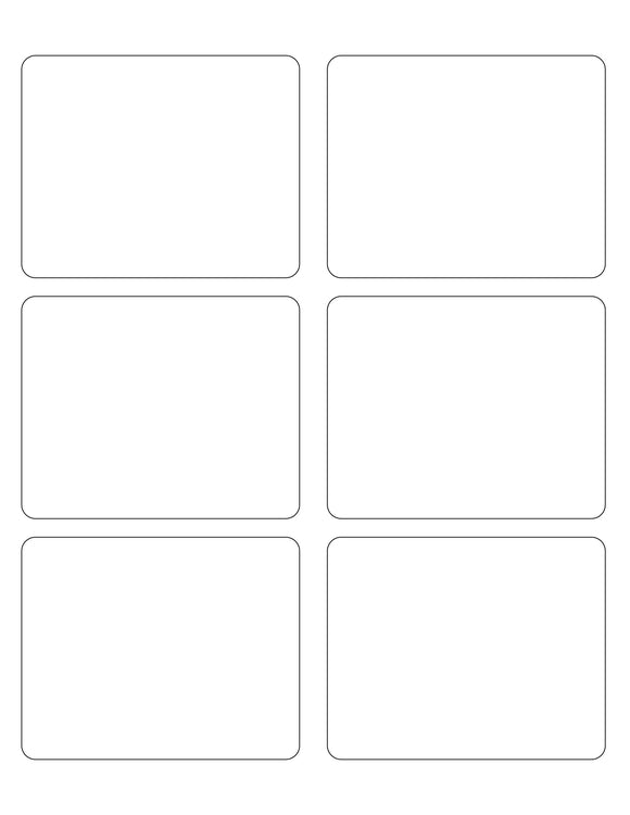 3 3/4 x 3 Rectangle White Label Sheet