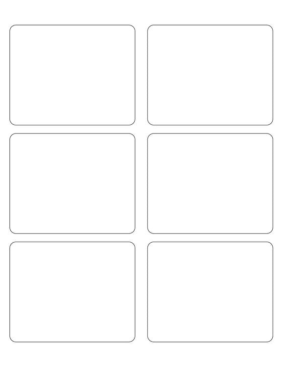 3 3/4 x 3 Rectangle White Printed Label Sheet