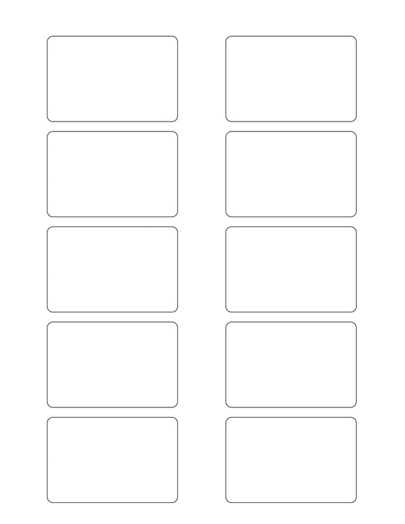 2 3/4 x 1 13/16 Rectangle Natural Ivory Printed Label Sheet