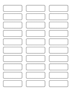 2 1/4 x 3/4 Rectangle PREMIUM Water-Resistant White Inkjet Label Sheets (Pack of 250)