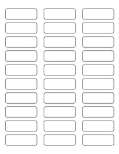 2 1/4 x 3/4 Rectangle White High Gloss Laser Label Sheet