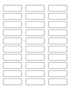 2 1/4 x 3/4 Rectangle All Temperature White Printed Label Sheet