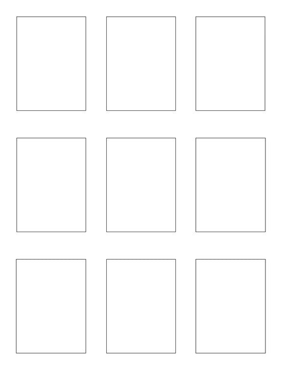 2.1 x 2.8 Rectangle White High Gloss Printed Label Sheet