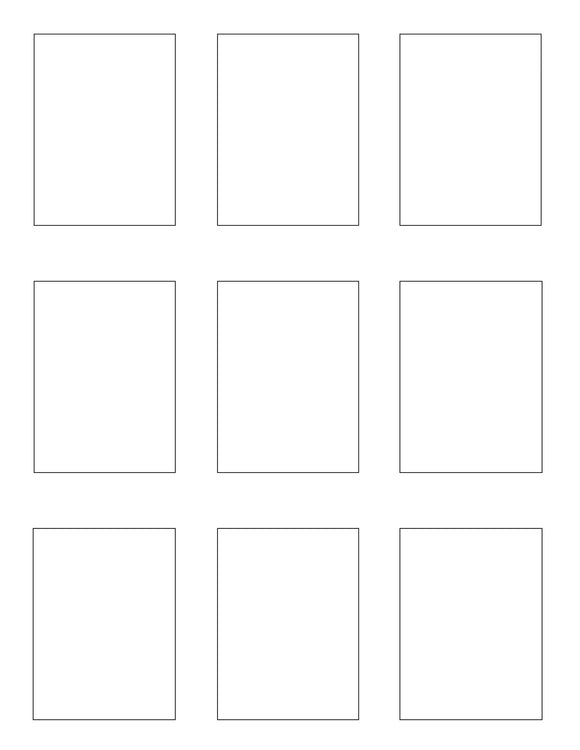2.1 x 2.8 Rectangle White Printed Label Sheet