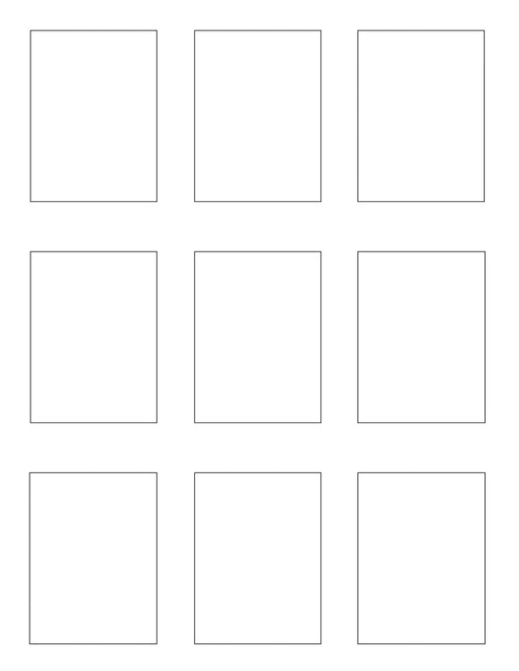 2.1 x 2.8 Rectangle Removable White Printed Label Sheet