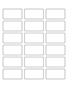 2 3/8 x 1 1/4 Rectangle White Label Sheet