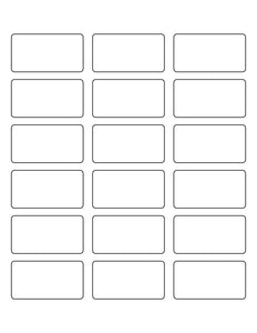 2 3/8 x 1 1/4 Rectangle White High Gloss Printed Label Sheet