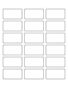 2 3/8 x 1 1/4 Rectangle Removable White Printed Label Sheet