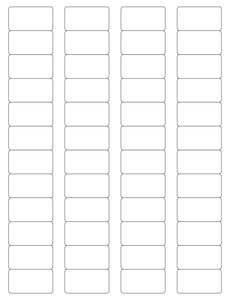 1 5/8 x 7/8 Rectangle Clear Gloss Printed Label Sheet
