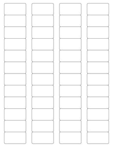 1 5/8 x 7/8 Rectangle Removable White Printed Label Sheet