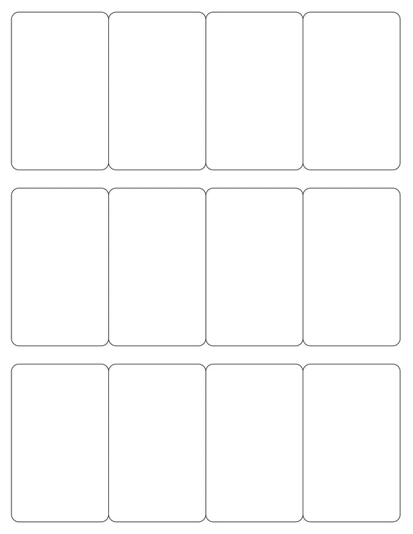 2 x 3 1/4 Rectangle White Label Sheet