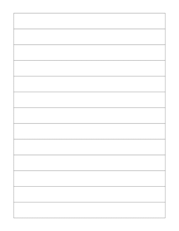 7.194 x 3/4 Rectangle White Label Sheet