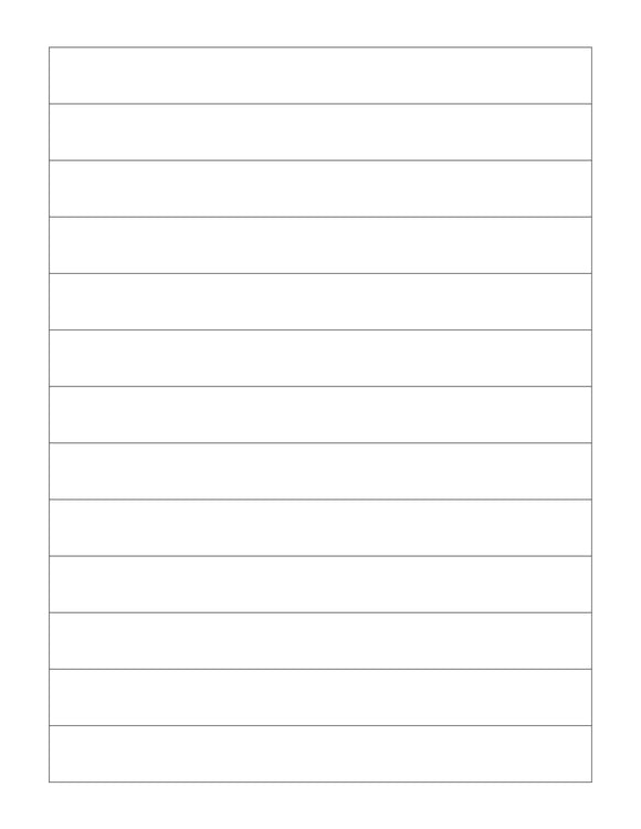 7.194 x 3/4 Rectangle Recycled White Printed Label Sheet