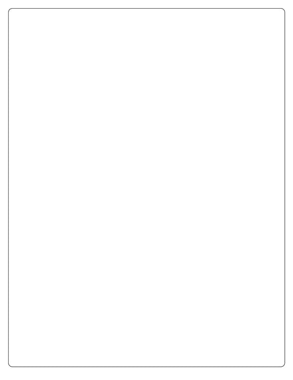 8 x 10 3/8 Rectangle Recycled White Printed Label Sheet