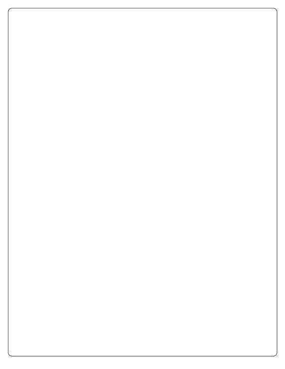 8 x 10 3/8 Rectangle White Printed Label Sheet