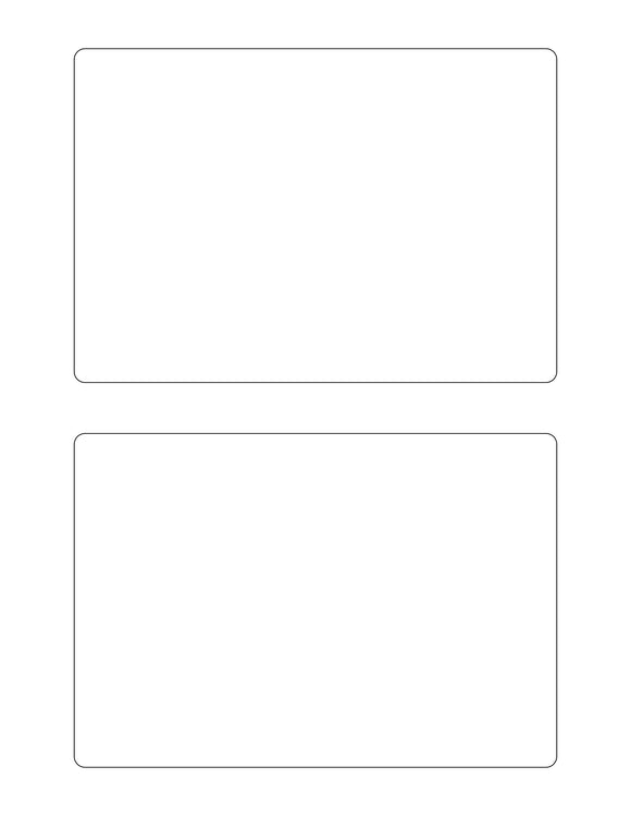 6 1/2 x 4 1/2 Rectangle White High Gloss Printed Label Sheet