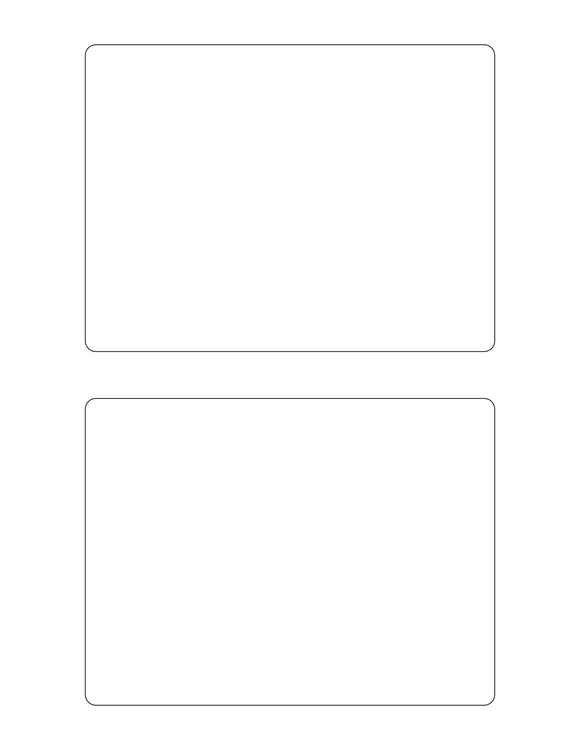 6 x 4 1/2 Rectangle Clear Gloss Printed Label Sheet