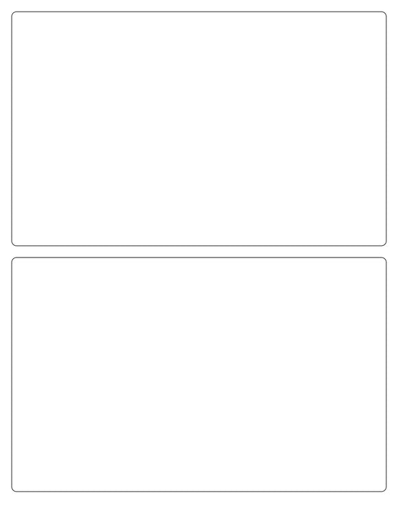 8 x 5 Rectangle White Label Sheet w/ Horizontal Gutter