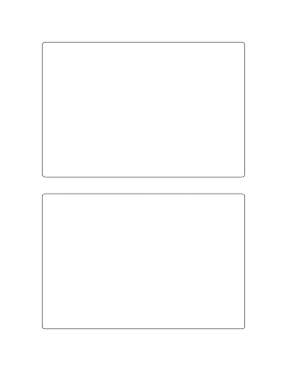 6 x 4 Rectangle White High Gloss Printed Label Sheet