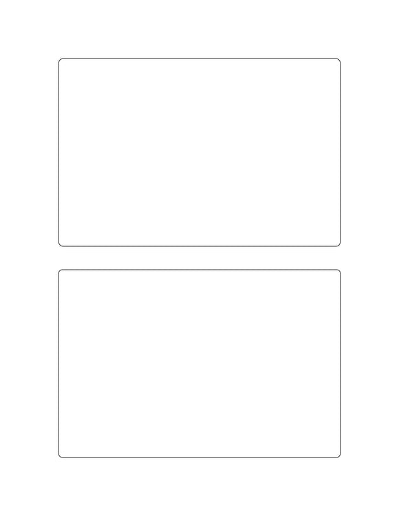 6 x 4 Rectangle White Printed Label Sheet