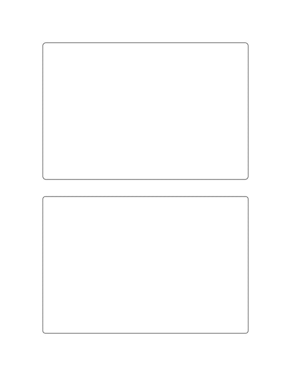 6 x 4 Rectangle White Label Sheet