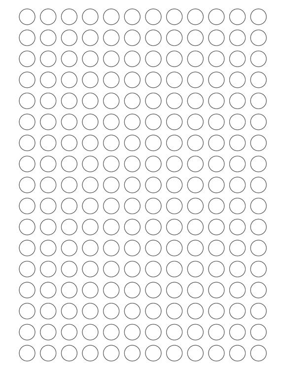 1/2 Diameter Round PREMIUM Water-Resistant White Inkjet Label Sheets (Pack of 250)
