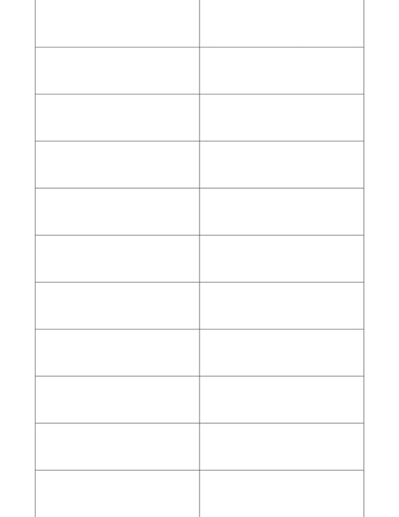 3 1/2 x 1 Rectangle White Printed Label Sheet