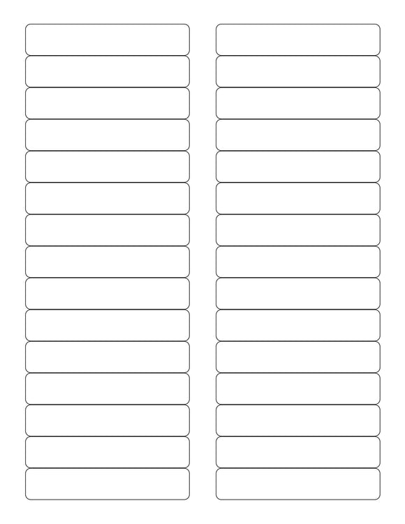 3 7/16 x 2/3 Rectangle Natural Ivory Printed Label Sheet