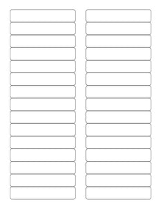 3 7/16 x 2/3 Rectangle White Label Sheet
