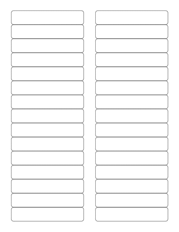 3 7/16 x 2/3 Rectangle Removable White Printed Label Sheet