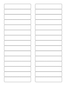 3 7/16 x 2/3 Rectangle White High Gloss Printed Label Sheet