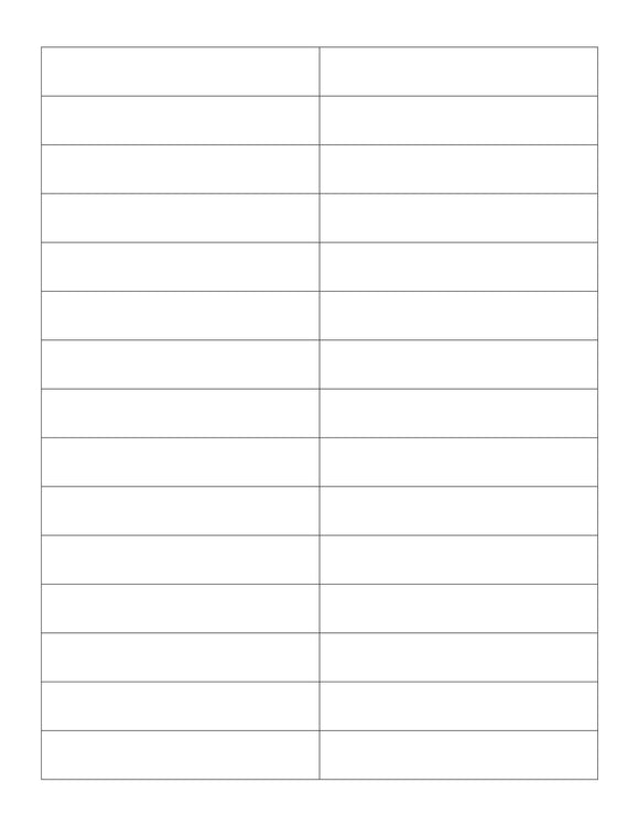 3.7 x 0.65 Rectangle White Printed Label Sheet