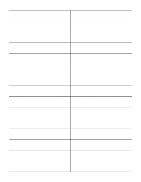3.7 x 0.65 Rectangle Clear Gloss Printed Label Sheet