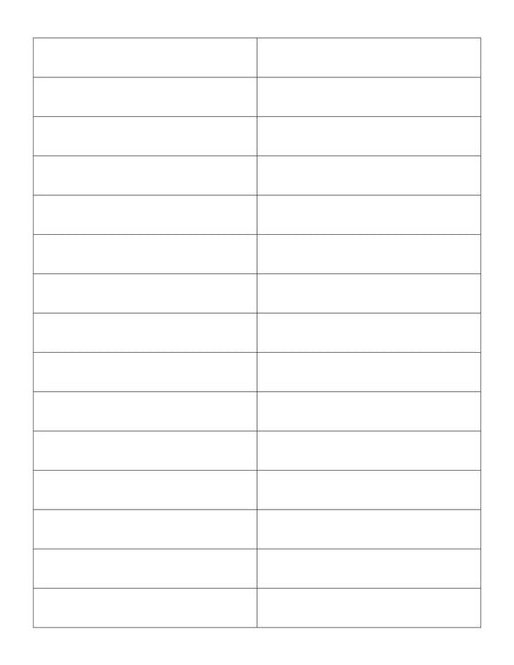 3.7 x 0.65 Rectangle Removable White Printed Label Sheet