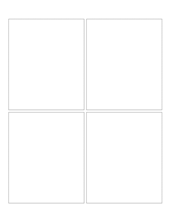3 3/4 x 4 1/2 Rectangle White Printed Label Sheet