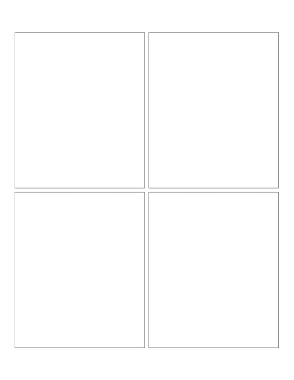 3 3/4 x 4 1/2 Rectangle White Label Sheet