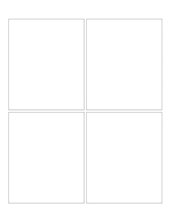 3 3/4 x 4 1/2 Rectangle Natural Ivory Printed Label Sheet