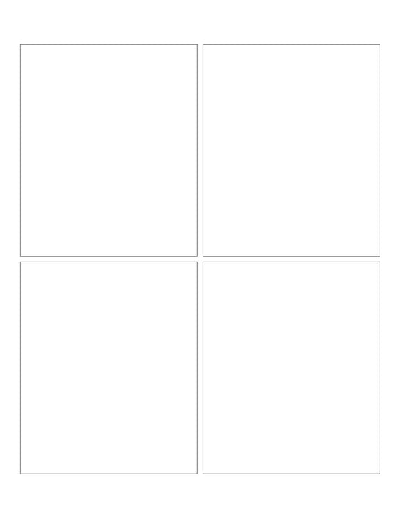3 3/4 x 4 1/2 Rectangle Removable White Printed Label Sheet