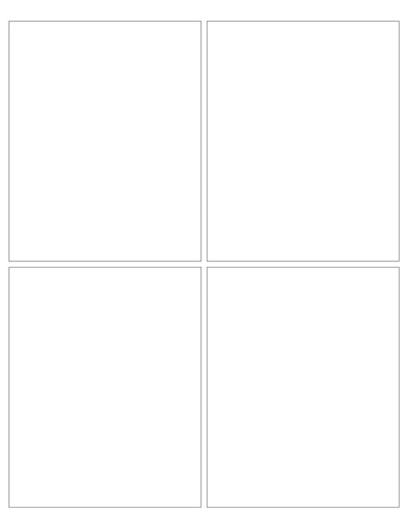 4 x 5 Rectangle White Label Sheet (Square Corners)