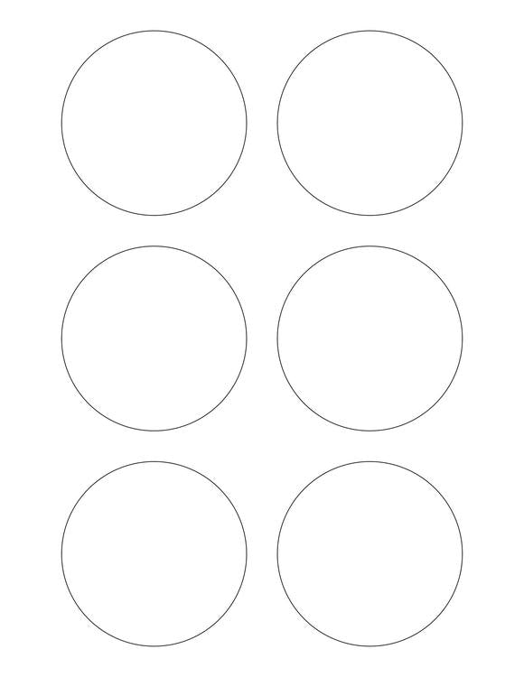 3 Diameter Round PREMIUM Water-Resistant White Inkjet Label Sheets (Pack of 250)