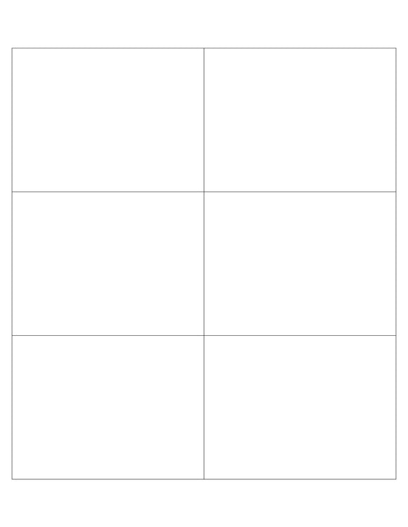 4 x 3 Rectangle White Opaque BLOCKOUT Printed Label Sheet