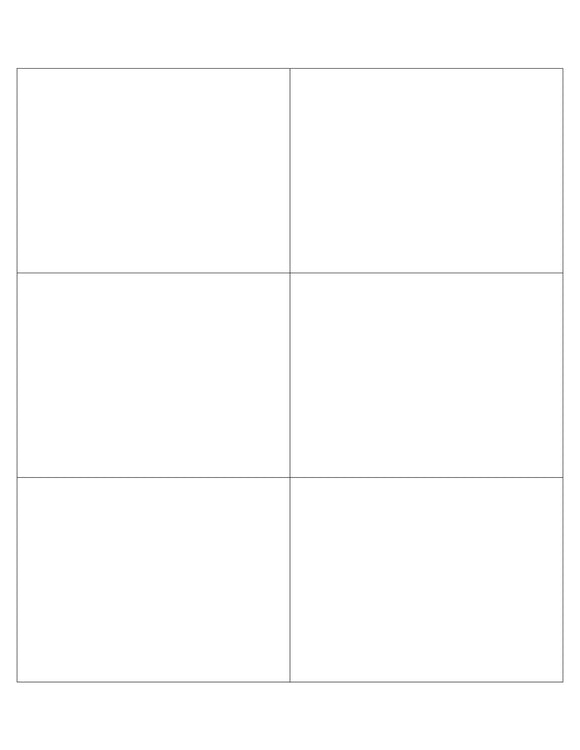 4 x 3 Rectangle White Label Sheet