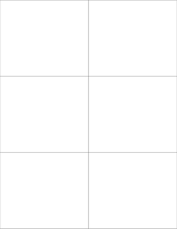 4 1/4 x 3 2/3 Rectangle White Printed Label Sheet