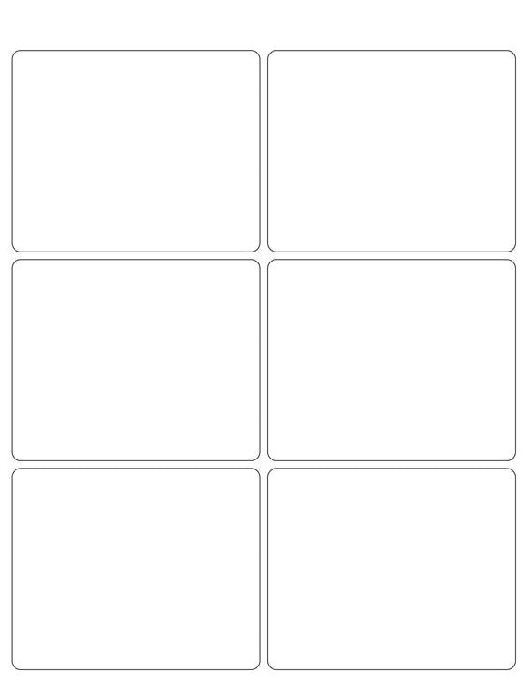 4 x 3 1/4 Rectangle White Printed Label Sheet